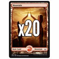 20x Full Art Mountain Hour of Devastation - Magic MTG - Mint/NM Pack Fresh