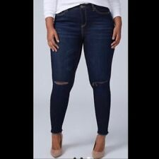 de2eee2275f LANE BRYANT 26 Super Stretch Mid Rise Skinny Jeans Whiskers