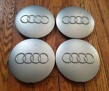 Set of 4 OEM 1995-97 Audi A6 S6 Silver Alloy Wheel Center Cap Hubcaps 8D0601165B