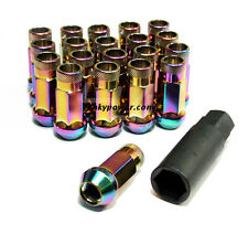 Muteki SR48 Wheel Lug Nuts - NEO CHROME M12x1.5 Civic Integra CRX Accord S2000