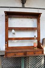 piattaia  IN LEGNO  libreria, scaffale ,mensola rustica antica restaurata