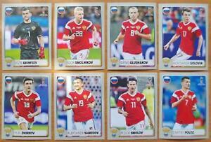 Panini 2018 World Cup Team Russia Set 8 McDonalds Russian Version Stickers