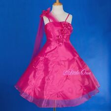 Wedding Flower Girl Dresses Pageant Party Pearl Formal Occasion Size 4T-8 #079