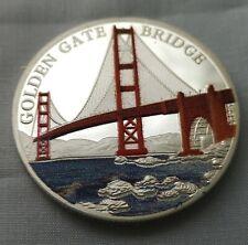 Golden Gate Bridge Silver Coin San Francisco Alcatraz Jail House Fields Park USA