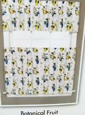 "Designer Art Work BOTANICAL FRUIT Cafe Curtain Tiers 57"" W x 36"" L No Valance"