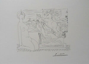 Pablo Picasso(After) : Scene Equestrian - Lithography Signed #1200ex