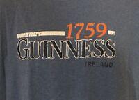 Official Guinness Merchandise Blue T-Shirt Men's Large L cotton Ireland 1759 B2