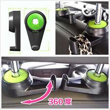 2 Pcs ABS Automobile Seat Headrest Multifunction Clothes Hanger Organizer Hooks