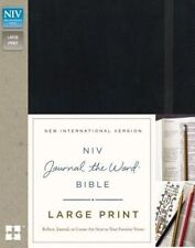 NIV, Journal the Word Bible, Large Print, Hardcover, Black: Reflect, Journal, or Create Art Next to Your Favorite Verses by Zondervan (Hardback, 2016)