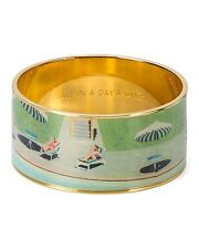 Kate Spade All In A Day's Work Bangle NWT RARE Retro Witty Cheeky Chic!