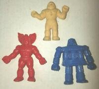 Vintage original 1985 M.U.S.C.L.E Muscle Men Figure Lot of 2 blue red white rare