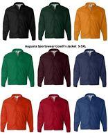 AUGUSTA Sportswear Coach's Nylon Jacket Men's S-3XL 4XL 5XL Water Resistant 3100