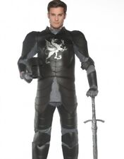 Black Knight Costume Medieval Jon Snow Game Thrones  - Plus XXL 2XL