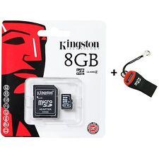 Memoria Scheda MicroSD Kingston 8gb SDHC Classe 4 per Smartphone fotocamere