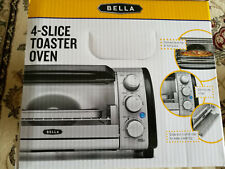 Bella 14326 4-Slice Toaster Oven - Toast, Bake, Broil, and More NIB