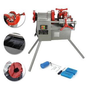 "Threading Machine 110V Electric Pipe Threader Tool (1/2"" - 2"") Threading Cutter"