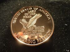 """COPPER BULLION ROUND- LOT OF 10 -1 OUNCE- """"LAND OF THE FREE"""" .999 COPPER 1 OZ.-"""