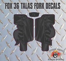 Fox 36 FORK Talas Adesivi Decalcomanie Grafiche mountain bike Down Hill MTB Nero