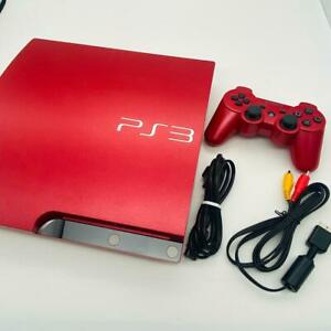 Sony PS3 Scarlet Red Console Slim PlayStation 3 W/Box 320GB CECH-3000BSR