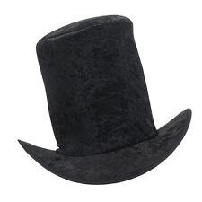Black Velvet Top Hat Adults Victorian Style Fancy Dress Costume Prop