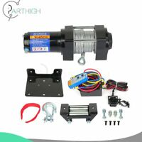 1x Electric Recovery Winch 4000LB 15m Steel Cable Rope Truck Trailer 12V Offroad