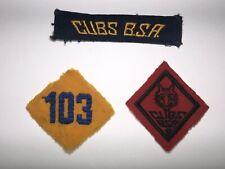 Rare Boy Scout BSA 1930s Cub Scout Patches, CUBS BSA