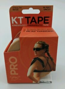 KT Tape Pro 16 ft Uncut Kinesiology Therapeutic Elastic Sports Tape Roll Beige
