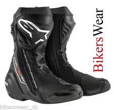 Alpinestars Supertech R Black Racing & Sport Motorcycle Boots - Black 43,44,45