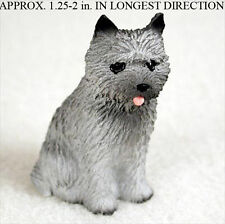 Cairn Terrier Mini Figurine Gray