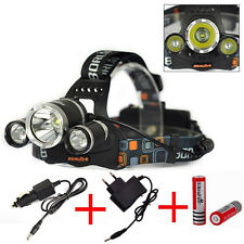 6000Lm 3x Cree XM-L T6 LED Rechargeable Headlamp Headlight + Battery + Charger