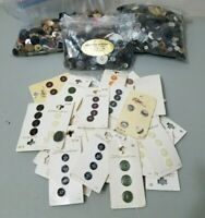 New Old Stock and Mixed Used Sewing Button Button Lot 2.5 LBS Hundreds+ Vintage