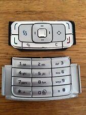 Genuino Original Repuesto Teclados De Plástico-teléfono móvil Nokia N95-Plata