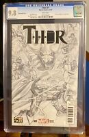Thor #1 - CGC 9.8 - 1:300 Alex Ross Variant Sketch - First Thor Jane Foster RARE