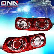 FOR 1996-2000 HONDA CIVIC 2DR COUPE RED HOUSING ALTEZZA STYLE TAIL LIGHT/LAMPS