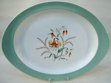 Wedgwood Tiger Lily Pattern 1st Quality Oval Serving Platter 33cm Looks in VGC