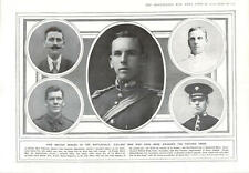 1915 Victoria Cross Heroes Gott Strafe Letter Flint-lock Pistol Trench Bow And A