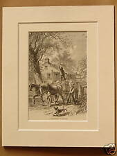 KANSAS HOMESTEAD USA VERY RARE ANTIQUE MOUNTED ENGRAVING FROM 1876 PUBLICATION