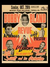 Bobby Bland Topeka 16x12 Repro Concert Poster