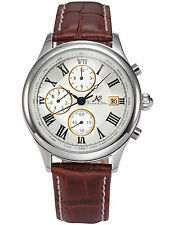 KS Day Date Month Analog Leather Wrist Men Automatic Mechanical Watch for GBH
