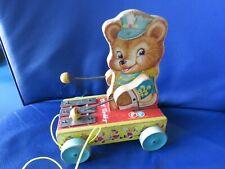 Fisher Price USA,Tiny Teddy 1965 Holz Vintage!