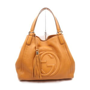 Gucci Tote Bag  Oranges Leather 2200691