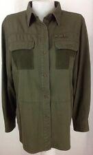 Ralph Lauren Military Green Long Sleeve Button Shirt - Woman's Medium - EUC
