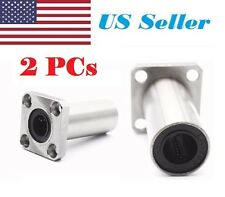2pcs 12mm x 21mm x 57mm Square Flange Linear Motion Ball Bearing LMK12LUU