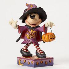New JIM SHORE DISNEY Figurine MINNIE MOUSE WITCH Halloween Pumpkin COSTUME