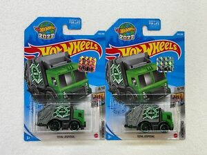 HOT WHEELS 2021 HW METRO TOTAL DISPOSAL #8/10 LOT OF 2 WITH FACTORY STICKER