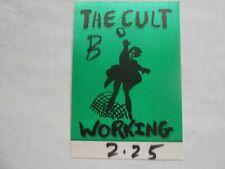 The Cult Working silk access pass