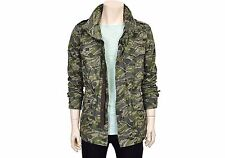 G by GUESS Mens Casual Camouflage Hidden Hood Zip Up Jacket Jumper Size M NWT