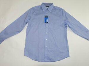 Nautica Men's Dress Shirt Size 15.5 - 36 / 37 NWT Blue Button Down Stretch M