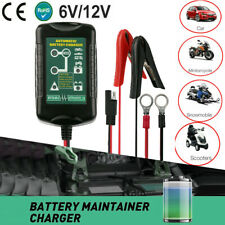12V 6V Car Motorcycle Battery Charger Auto Float Trickle Tender Maintainer 1.5A