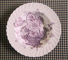 Clarice Cliff - Charlotte - transferware soup bowls - purple / mulberry